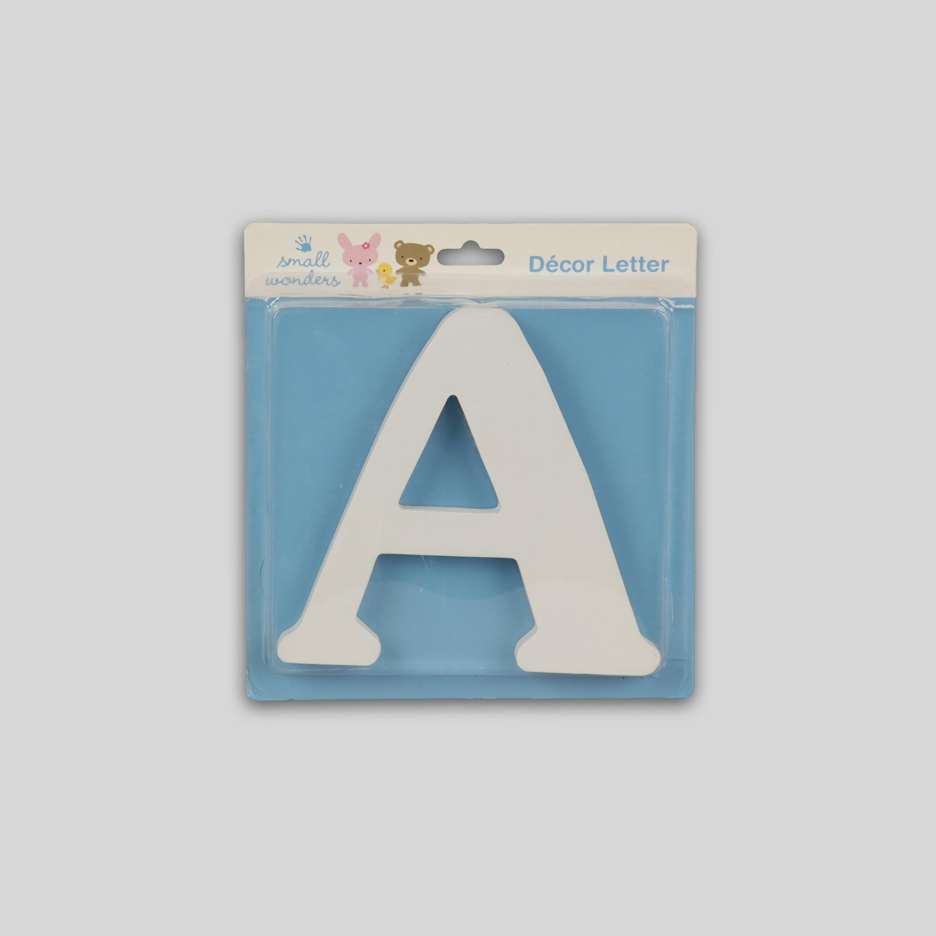 Small Wonders Wooden Letter Wall Decor - Letter A