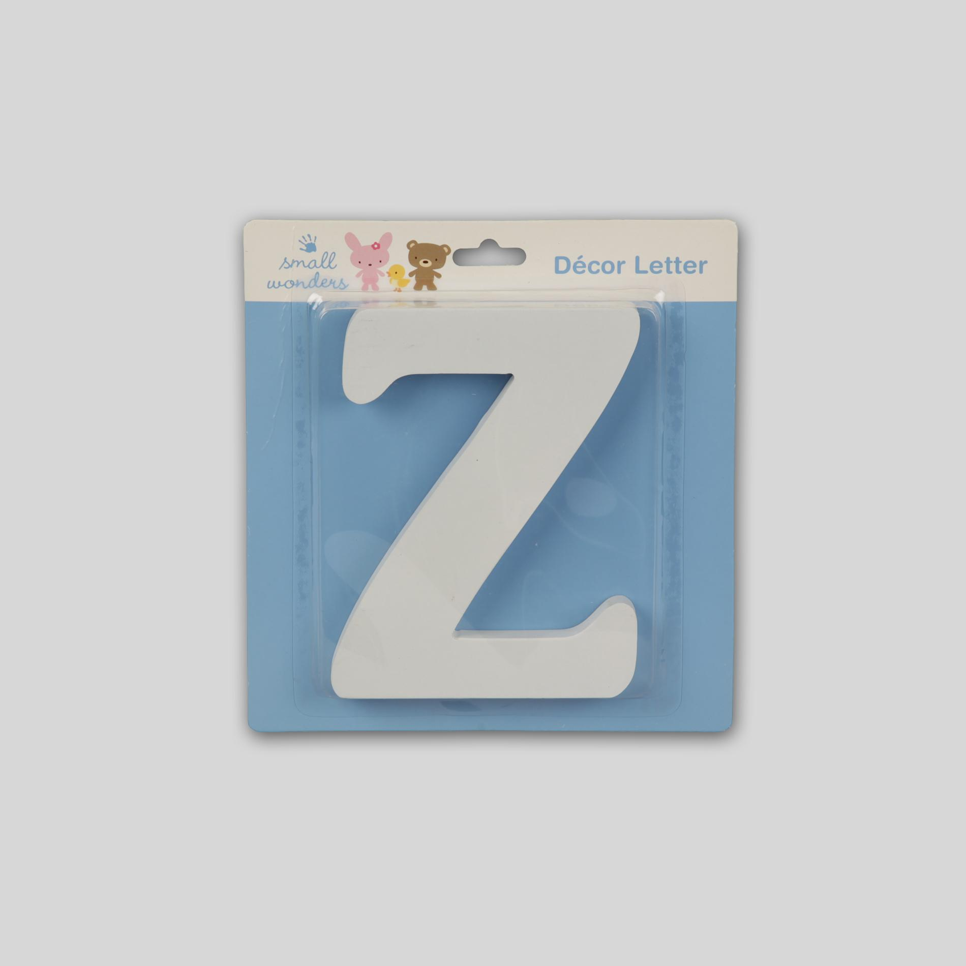 Small Wonders Wooden Letter Wall Decor - Letter Z