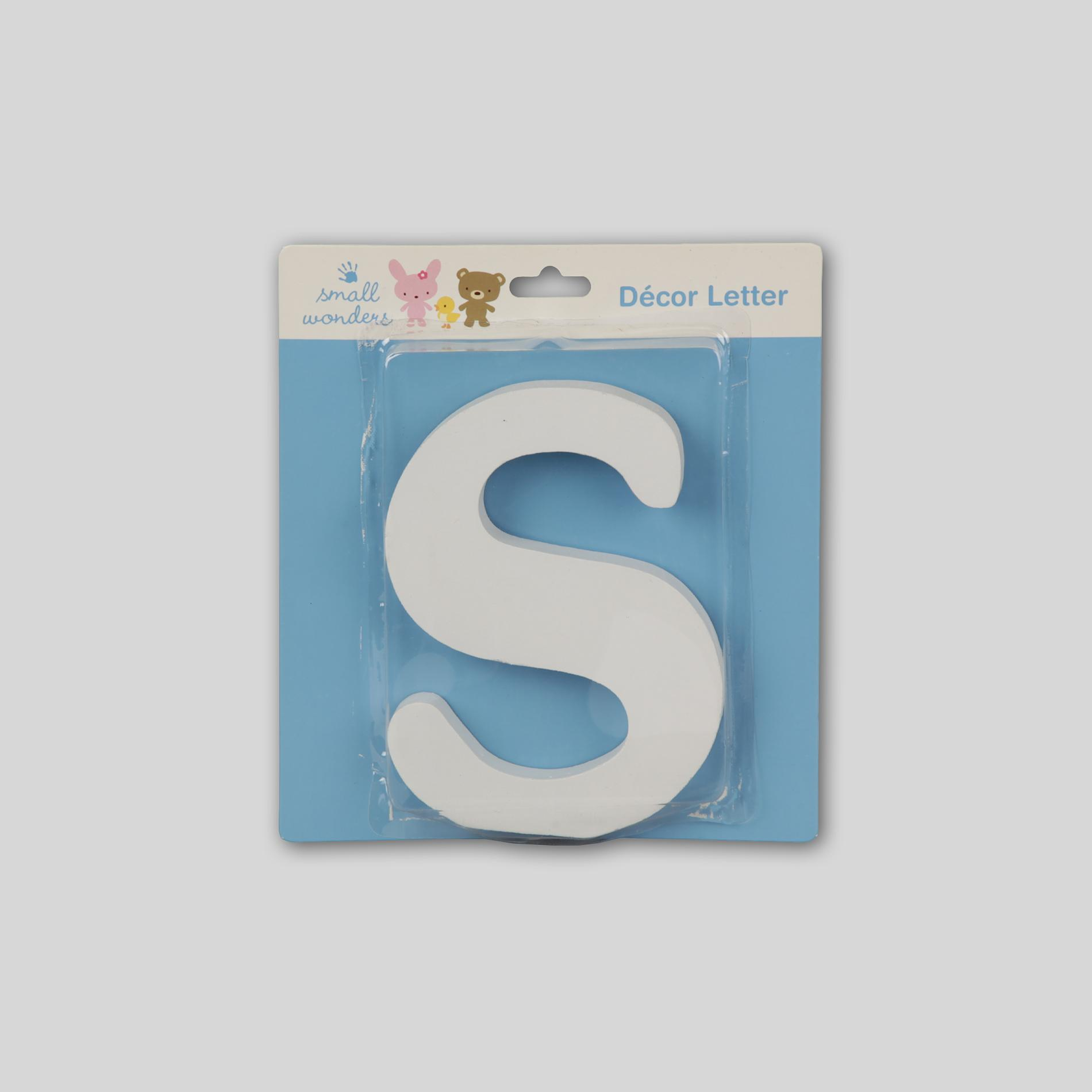 Small Wonders Wooden Letter Wall Decor - Letter S