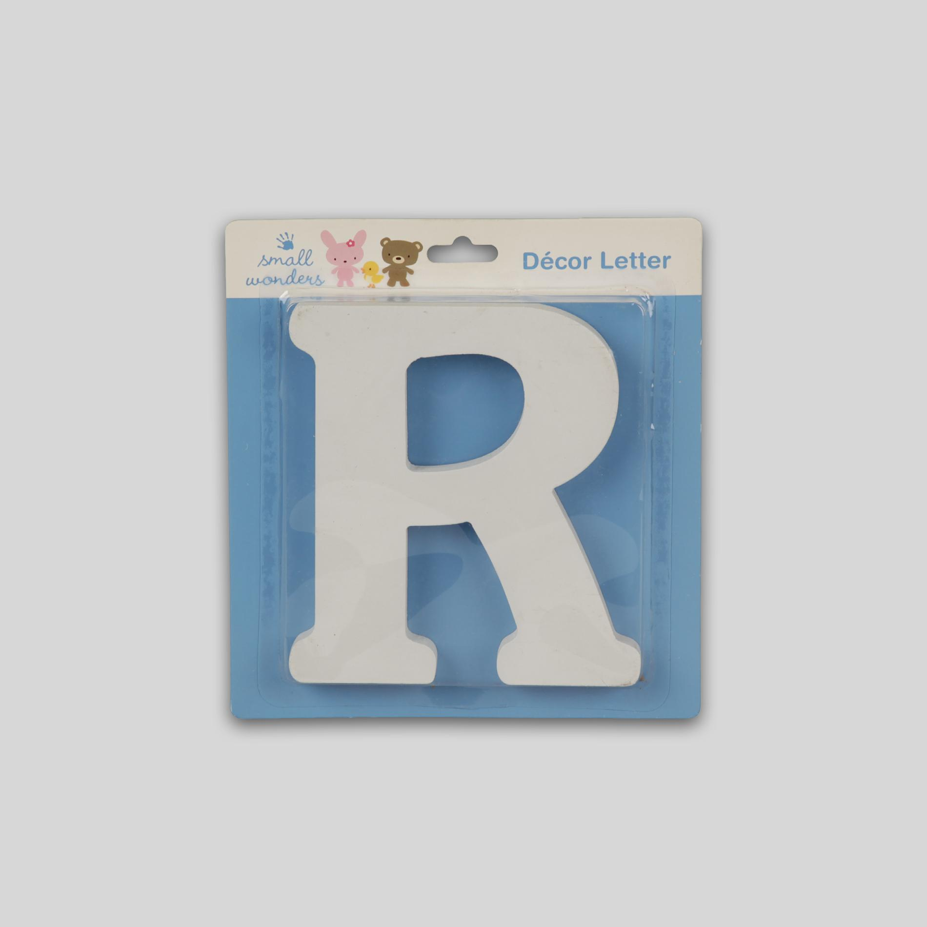 Small Wonders Wooden Letter Wall Decor - Letter R