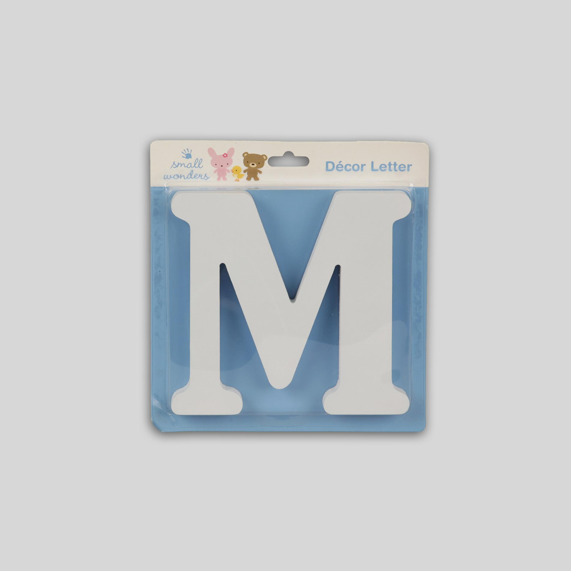 Small Wonders Wooden Letter Wall Decor - Letter M