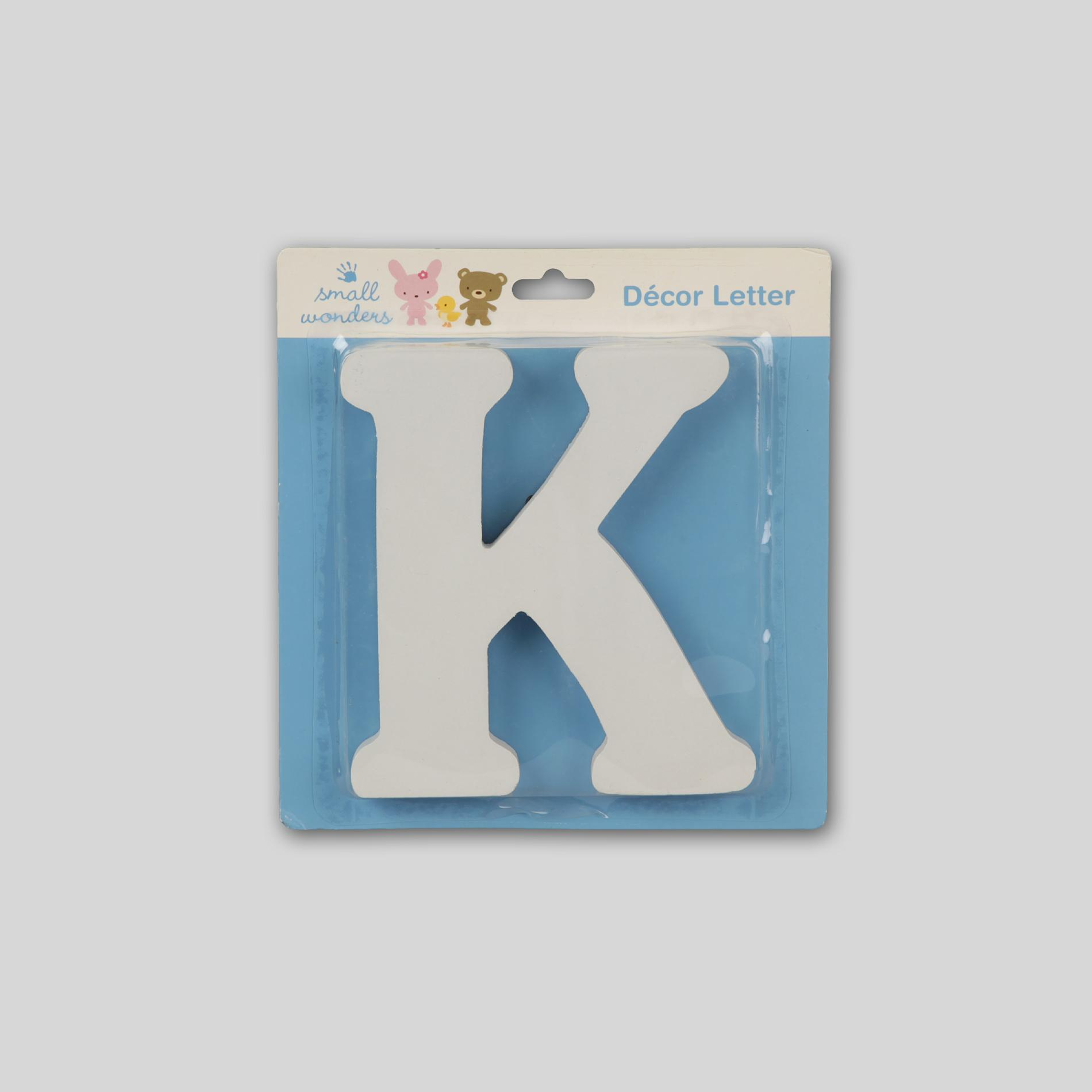 Small Wonders Wooden Letter Wall Decor - Letter K