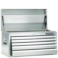 Craftsman 40-Inch 5-Drawer Premium Heavy-Duty Top Chest - Stainless Steel at Craftsman.com