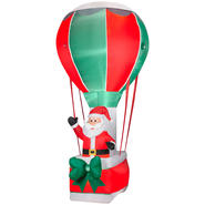 Santa In A Hot Air Balloon Airblown Christmas Decoration at Kmart.com