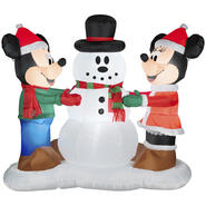 5.4' Mickey & Minnie Mouse Airblown Christmas Decoration at Kmart.com