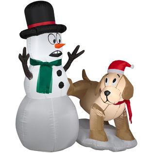 Trim A Home® Trim A Home® Air-Blown Snowman and Dog, 4 Ft.