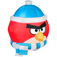 2.8' Angry Bird With Scarf Airblown Christmas Decoration at Kmart.com