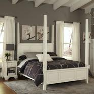 Home Styles Naples White Queen Poster Bed and Night Stand at Kmart.com