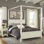 Home Styles Naples White King Canopy Bed and Night Stand at Kmart.com