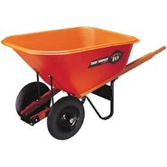 Ames Jackson 10cf Contractor Orange Wheelbarrow Dual Wheel at Kmart.com