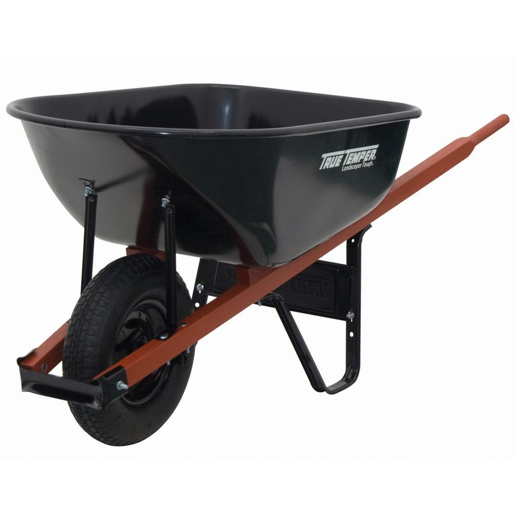 Jackson 6cf Heavy Duty Black Steel Wheelbarrow