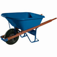 Ames Jackson 6-Cubic Feet Contractor Poly Wheelbarrow - Blue at Kmart.com