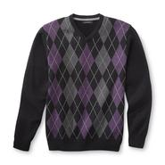 Structure Men's V-Neck Sweater - Argyle at Sears.com