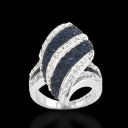 Shades Of Elegenace Platinum Over Bronze Blue Crystal Kite Stripe Ring at Kmart.com