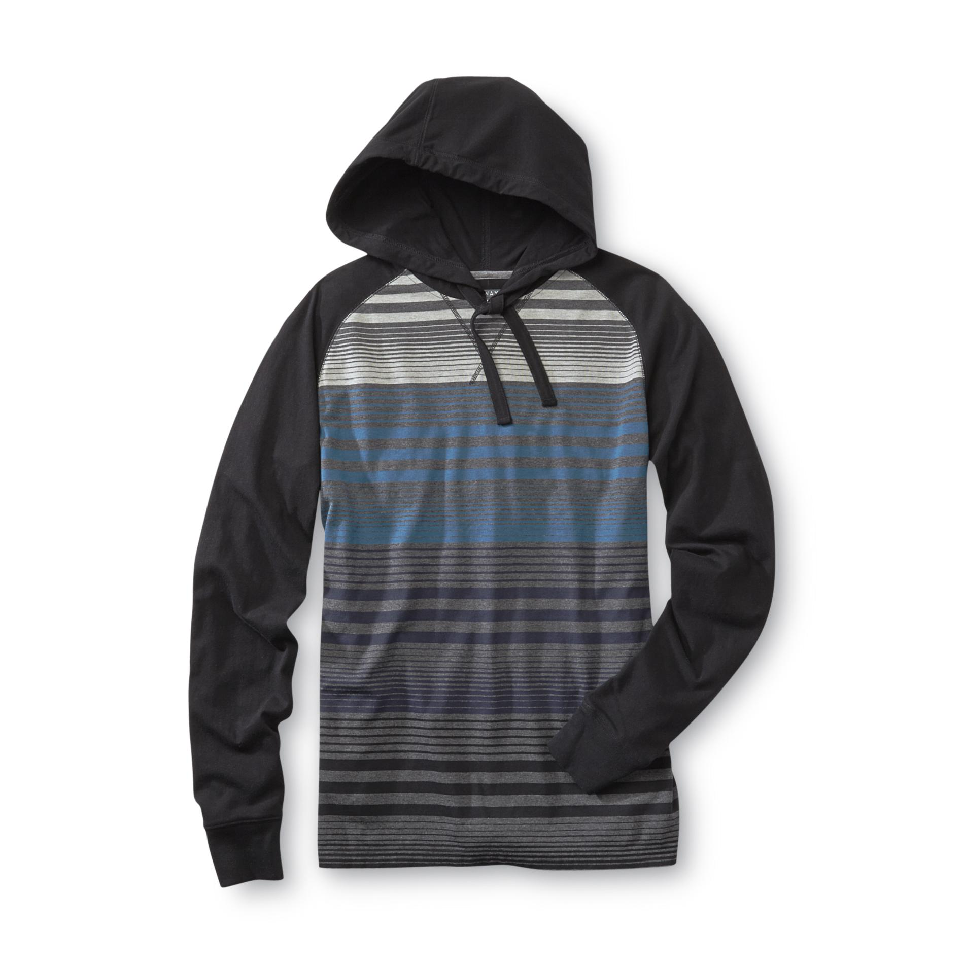 Always Push Forward Men's Jersey Knit Hoodie - Striped at Kmart.com