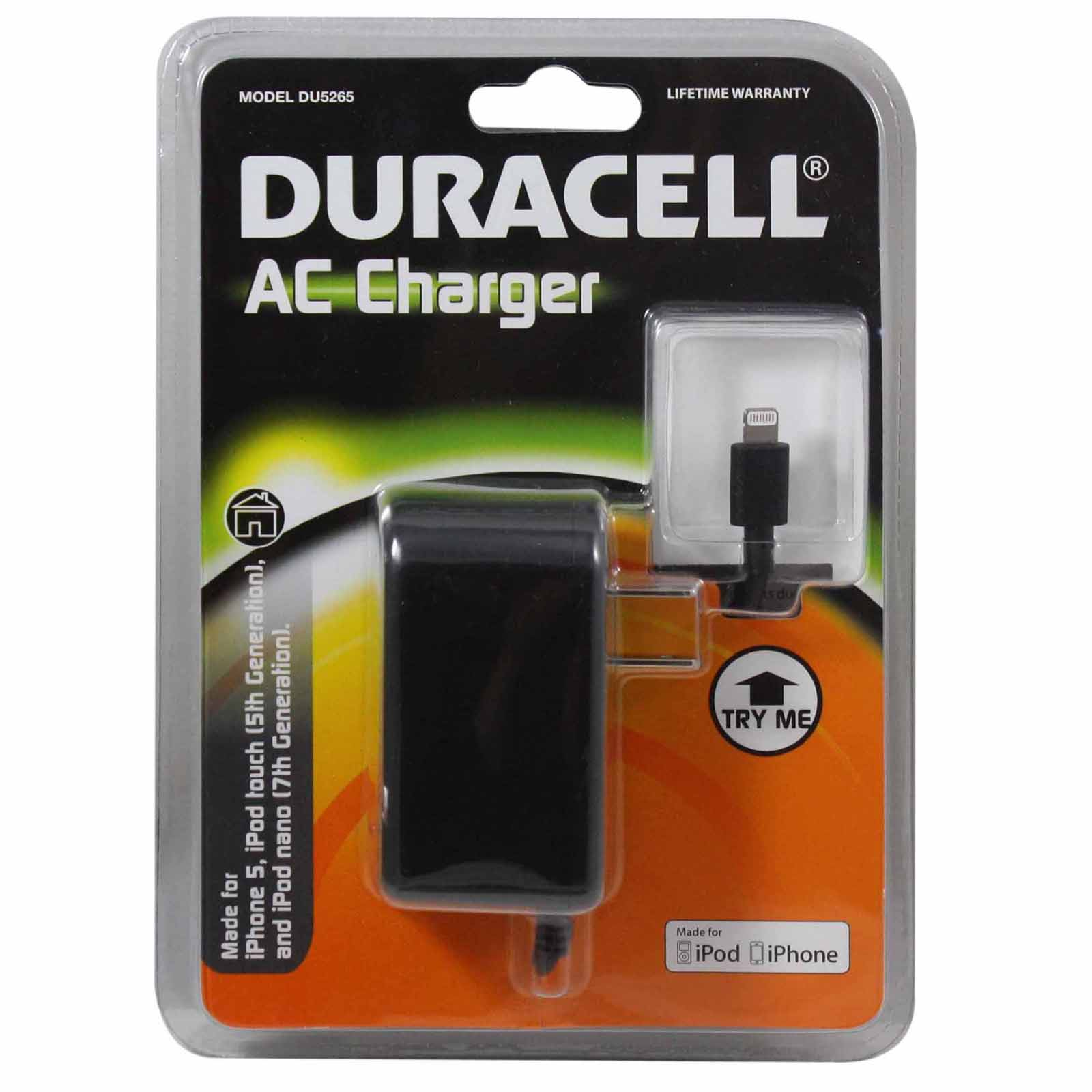 Duracell AC Charger w/ Lightning Connector DU5265