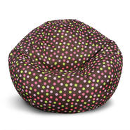 American Furniture Alliance Classic Medium Bean Bag - Brown w/Pink Dots at Kmart.com