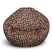American Furniture Alliance Classic Small Bean Bag - Brown w/Pink Dots at Kmart.com