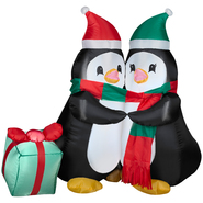 Hugging Penguins Airblown Christmas Decoratoin at Kmart.com