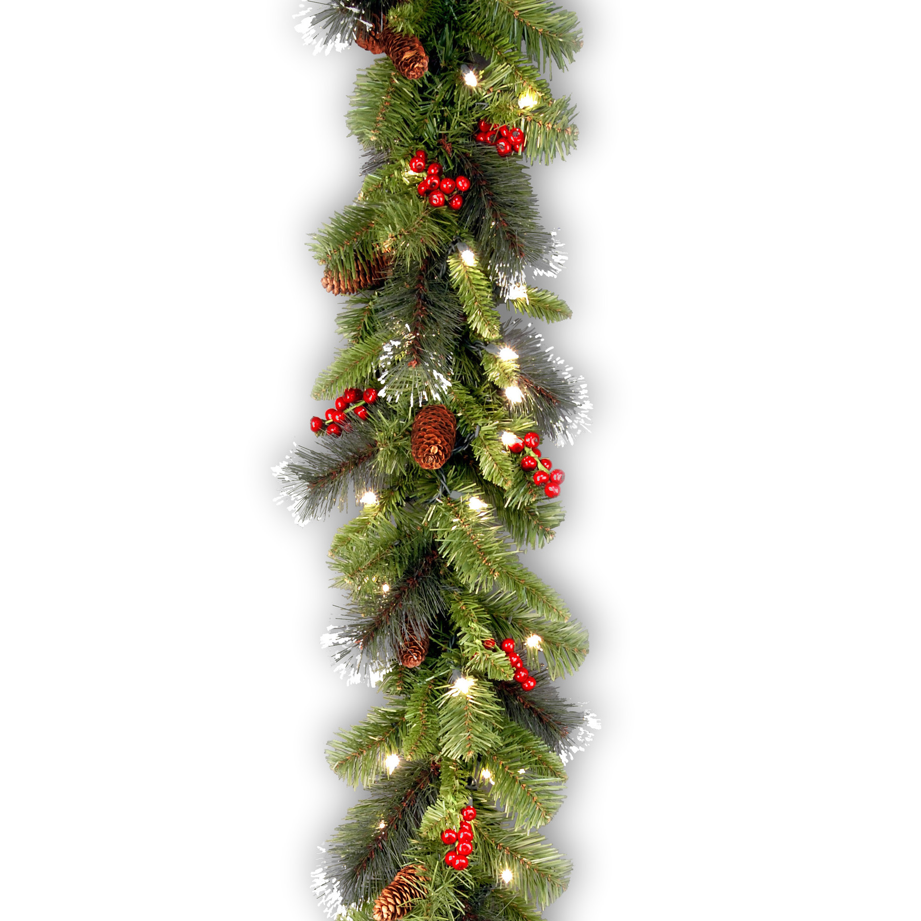 National Tree Company 9 ft. Crestwood Spruce Garland with Clear Lights