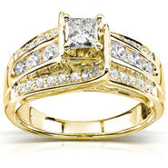 Diamond-Me Princess Diamond Engagement Ring 7/8 Carat (ct.tw) in 14K Yellow Gold at Kmart.com
