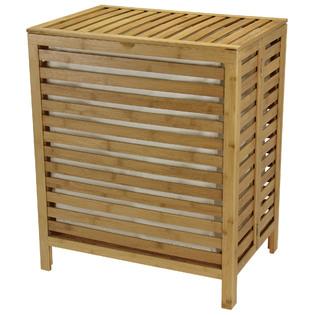 Household Essentials Bamboo Laundry Hamper, Beige