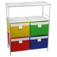 Household Essentials 3 Shelf Storage Unit, Bright White, 6 Cubbies at Kmart.com