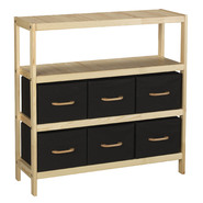 Household Essentials 3 Shelf Unit, Wood, 6 Cubbies at Kmart.com