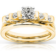 Diamond-Me 1/2 Carat (ct.tw) Diamond Wedding Set in 14K Yellow Gold at Kmart.com
