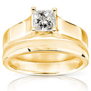 Diamond-Me Diamond Wedding Set 1/2 Carat (ct.tw) in 14K Yellow Gold at Sears.com