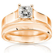 Diamond-Me Diamond Wedding Set 1/2 Carat (ct.tw) in 14K Rose Gold at Sears.com