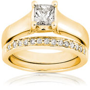 Diamond-Me Diamond Wedding Set 3/4 Carat (ct.tw) in 14 Yellow Gold at Sears.com