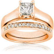 Diamond-Me Diamond Wedding Set 3/4 Carat (ct.tw) in 14 Rose Gold at Sears.com
