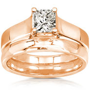 Diamond-Me Diamond Wedding Set 3/5 Carat (ct.tw) in 14K Rose Gold at Sears.com