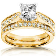 Diamond-Me Diamond Wedding Set 1 1/3 carat (ct.tw) in 14k Yellow Gold at Sears.com