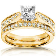 Diamond-Me Diamond Wedding Set 4/5 carat (ct.tw) in 14k Yellow Gold at Sears.com