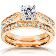Diamond-Me Diamond Wedding Set 4/5 carat (ct.tw) in 14k Rose Gold at Sears.com