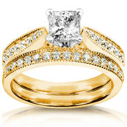 Diamond-Me Diamond Wedding Set 1 carat (ct.tw) in 14k Yellow Gold at Sears.com