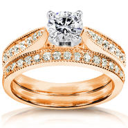 Diamond-Me Diamond Wedding Set 1 carat (ct.tw) in 14k Rose Gold at Sears.com