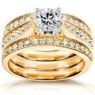 Diamond-Me Round-Brilliant Diamond Bridal Set 1 1/4 carat (ct.tw) in 14k Yellow Gold at Sears.com