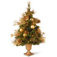 "National Tree Company 36"" Decorative Collection Elegance Entrance Tree in 9"" Plastic Pot with 50 Clear Lights at Kmart.com"