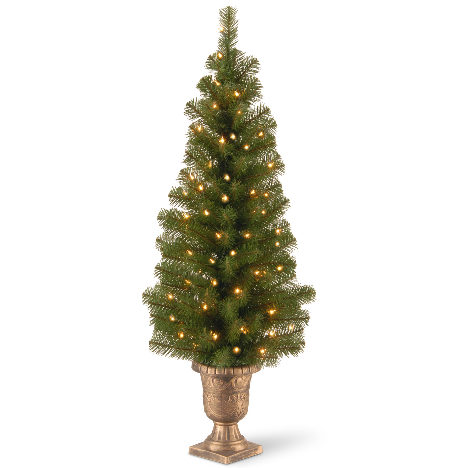 National Tree Company 4 ft. Montclair Spruce Entrance Tree with Clear Lights