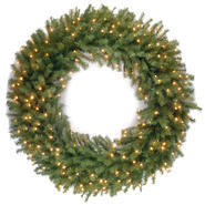 "National Tree Company 48"" Norwood Fir Wreath with Clear Lights at Kmart.com"