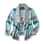 Route 66 Girl's Open Front Cardigan - Striped at Kmart.com