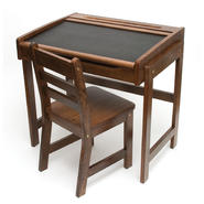 Lipper International Child's Desk w/Chalkboard Top & Chair – Walnut at Kmart.com