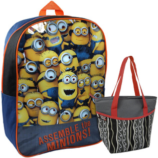 -Despicable Me 2 Backpack & Lunch Tote Bundle