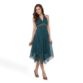 Robbie Bee Women's Halter Dress - Leaf Print at Sears.com