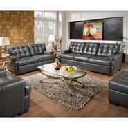 Beautyrest Dark Gray Soho Leather Loveseat at Sears.com