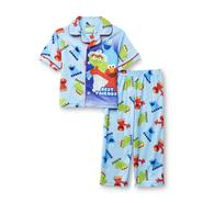 Sesame Street Elmo, Cookie Monster & Oscar the Grouch Infant & Toddler Boy's Short-Sleeve Flannel Pajamas at Kmart.com