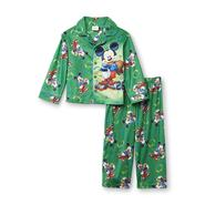 Disney Baby Mickey Mouse Infant & Toddler Boy's Long-Sleeve Flannel Pajamas - Football at Kmart.com